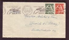 GERMANY -Berlin....  Cover with 1951 stamp day set