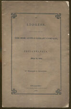 Address Delivered to Mercantile Library Company by William E. Channing-1841