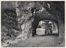 D2707 Gallerie della nuova strada poco a monte di Stua - Stampa - 1922 old print