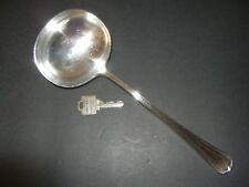 VINTAGE SILVER PLATE SOUP SERVING LADLE JOHN SANDERSON 1929-35 SHEFFIELD ENGLAND