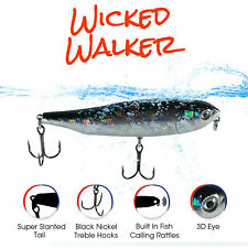 """3.75"""" Smoked Finger Mullet Top Water Fishing Lure   Floating"""
