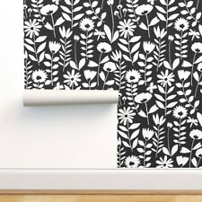 Peel-and-Stick Removable Wallpaper Spring Floral Living Room Scandinavian Cutout