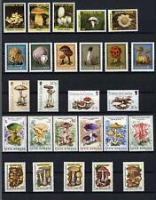 Sellos Setas años entre 1961 a 2001, sellos nuevos Mushrooms stamps