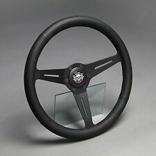 Lederlenkrad Sportlenkrad Leder 350mm Nabe Fiat 500 595 600 Steyr Puch Abarth