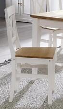 Esszimmer-stuhl Kiefer massiv weiß eichefarben Küchenstuhl Holz stühle Landhaus