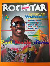 rivista ROCKSTAR 48/1984 POSTER Kiss Stevie Wonder Robert Fripp Cure Cars  No cd
