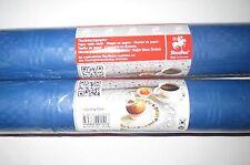 Rotolo 2 1mx10m Carta Tovaglia Panno Tabella Blu Compleanno Decorazione