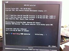 HP 380 G5 SERVER 8 CORE 2X QUAD 2.5GHZ XEON CPU 16GB RAM 2 X 146GB SAS HDD DVD