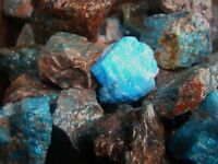 2000 Carat Lots of Unsearched Natural Apatite Rough + a FREE Faceted Gemstone