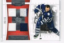 DION PHANEUF 2011-12 DOMINION #19 QUAD JERSEY PATCH #5/15 ONLY!
