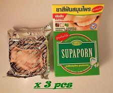 Herbal Toothpaste Supaporn Original Formula 3 x 25 g Worldwide Shipping