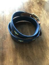 NWT J Press Mens Belt size 30 Crest leather brass d ring buckle