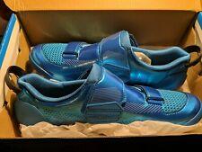 Shimano TR9 Triathlon Carbon Cycling Road Bike Shoes Blue SH-TR901 44 (US 9.5)