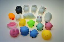 16X Cute Mini Animal Squishies Kawaii Mochi Squeeze Toys Stretch Soft Squishy