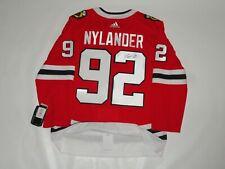 Alex Nylander Signed Chicago Blackhawks #92 Adidas Climalite Jersey Alexander
