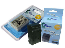 Battery+Charger for Canon NB-10L CB-2LC PowerShot SX40 HS SX40HS G1 X G1X
