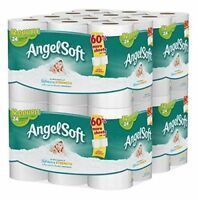 Angel Soft 2 Ply Toilet Paper 48 Double Bath Tissue Pack of 4 with 12 rolls each