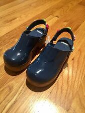 Size 12 blue NWT PATENT LEATHER CLOG shoes by GYMBOREE