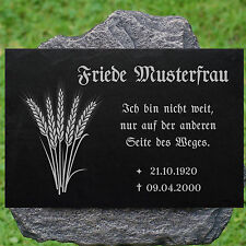 Grabstein GRABPLATTE Grabmal Ähren 01►Gravur mit Inschrift + Motiv◄ 50 x 30 cm