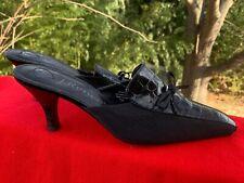 J RENEE Marvel Faux Alligator Croc Black Pumps High Heels Women Sz 7.5 ❤️sj17j13