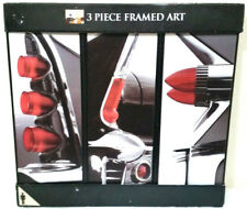 VINTAGE CLASSIC CARS CADILLAC CHEVY TAILLIGHTS FRAMED ART