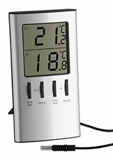 TFA 30.1027 Digital Indoor Outdoor Thermometer with Maximum and Minimum Functio