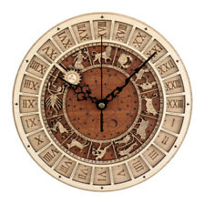 Venice Astronomical Wall Clock Retro Wooden Noiseless Number Wall Clock