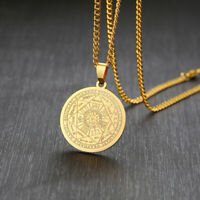 Seven Seals of The Archangel Coin Pendant Men Necklace Gift Amulet Pagan Jewelry