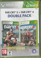 Far Cry 3 and Far Cry 4 Xbox 360 Double Pack Brand New Factory Sealed