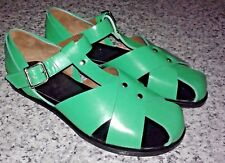 MARNI Ballerina Flat Shoes Slingback Fussbett Spring Green Calf Leather Sandals