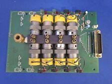 PCB ASSY 400336 w/ (8) Clippard EV-3M-24 VDC 3-Way Solenoid Valve Manifold, Used