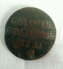 1721 h colonial french colonies sou 9 deniers fine details