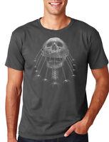 Spider Web Skull halloween horror screaming office costume party T-Shirt