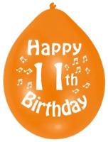NEW  Birthday  Party Happy 11th Birthday Latex Balloons - 22.8cm