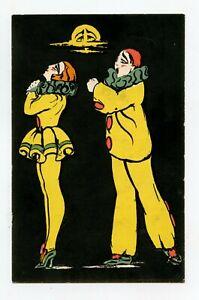Art Deco. Pierrot And Colombine