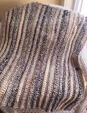 BABY AFGHAN BLANKET WRAP crochet handmade bulky SOFT SUPER CHUNKY multi lap robe