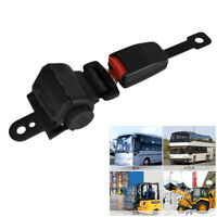 Universal Retractable 2 Point Car Auto Seat Safety Belt Heavy-duty Nylon Black