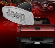 OFFICIALLY LICENSED JEEP 3D LOGO HITCH RECEIVER TRAILER TOW COVER S.S. CHROME