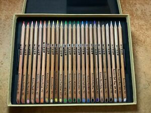 24 Karisma Colour Pencils : 23 are UNUSED and 1 pencil has a chipped tip !! 😲