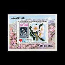 Ras Al Khaima, Bl110A, Mnh,1972, S/S, Olympics, Ice Hockey, Flowers, 1218.
