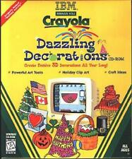 Crayola Dazzling Decorations (CD, 1998) for Win/Mac - NEW CD in SLEEVE