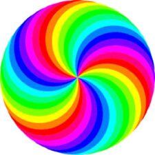 30 Custom Rainbow Swirl Personalized Address Labels