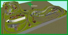 Piko H0 A-Gleis Gleisplan A36 für Anlagenplanung, HO, Set 3 x 4,05 m