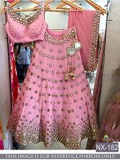 Indian Designer Party Wear Lehenga Choli Pakistani Saree Pink Wedding Lengha