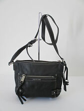 Michael Kors Abby Medium Messenger Black Leather Shoulder Handbag