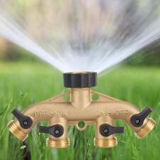 "3/4"" Water Tap Connector Distributor 4 Way Water Distributor Brass Garden Hose"