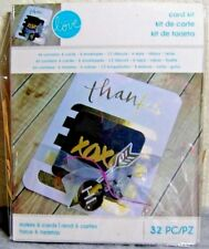 "Momenta Card Making Kit: 32 Pc  ""Love"" Theme - Creates 6 Classy Handmade Cards!"
