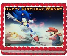 Sonic Super Mario Brother's Party Edible Cake Topper Image Decoration  Sheet