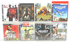 8 pc PS3 Playstation 3 Video Games Warhawk+Red Dead+Call of Duty+Conan+Godfather