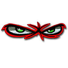 Angry Red Eyes Patch Iron on Biker Badge No Fear Sewing Racing Embroidered Vest